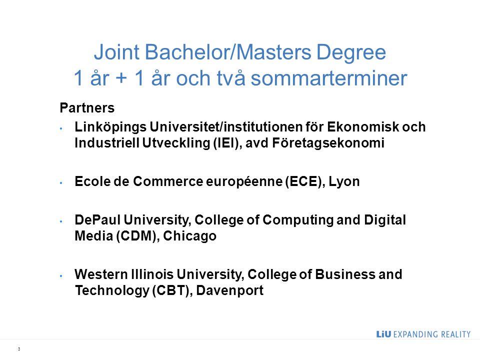 Atlantis - kortversionen Förutsättning: 2 års univ studier inom företagsekonomi Antas till Atlantis T1 studier inom företagsekonomi i Frankrike (ECE) T2 studier inom företagsekonomi i Sverige + Bachelor Thesis (LiU) BSC Bus.Adm.