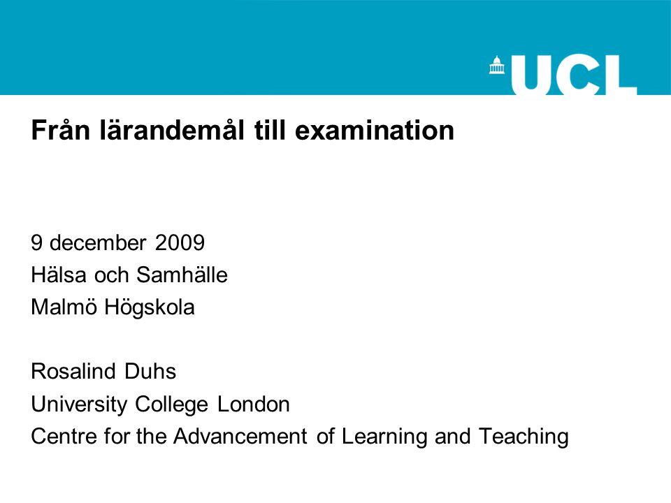 Examinationsformer Testar olika kunskapsformer Se Epstein och examinationsformsguiden E-examination?