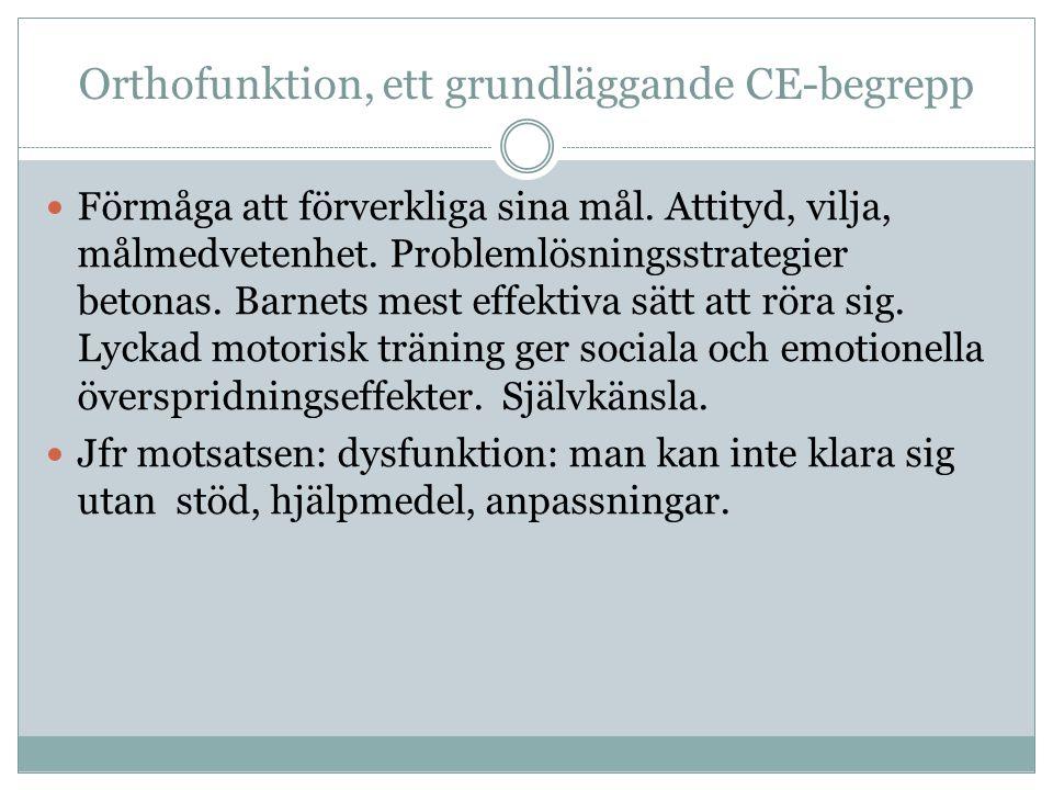 Orthofunktion, ett grundläggande CE-begrepp Förmåga att förverkliga sina mål.