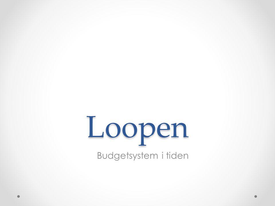Loopen Teknik Mappstruktur Filstruktur – fokus budget Sammanställning – pivottabell Prognos Stödfördelning