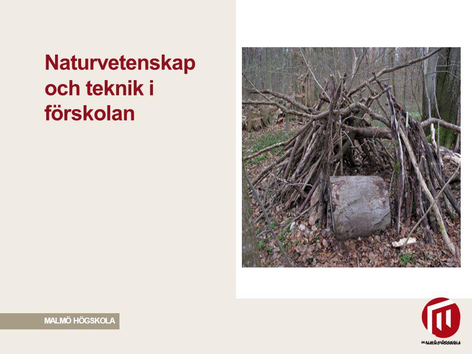 2010 05 04 Naturvetenskap och teknik i förskolan MALMÖ HÖGSKOLA