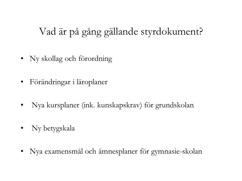 Varför allt detta på en gång.Sämre resultat i den svenska skolan.
