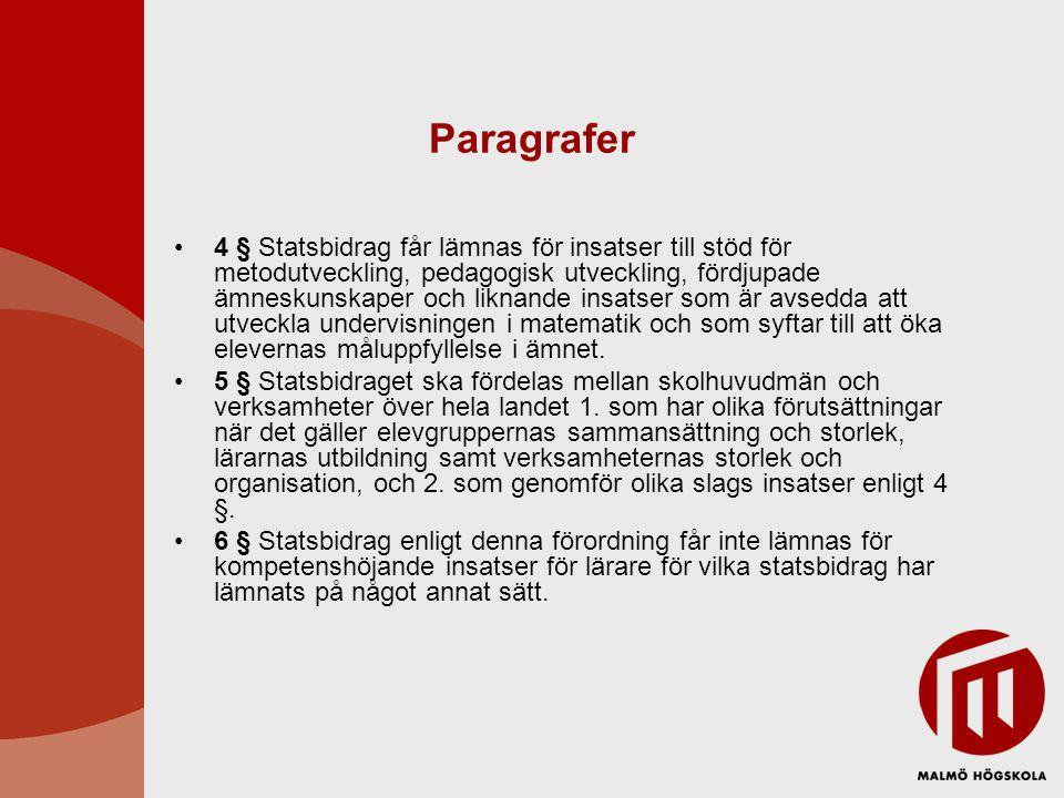 Läsning av ansökningar Svaleboskolan, Veberöd Malmö friskola Serresjöskolan Trelleborg Nydalaskolan Södra innerstaden Byskolan Södra Sandby