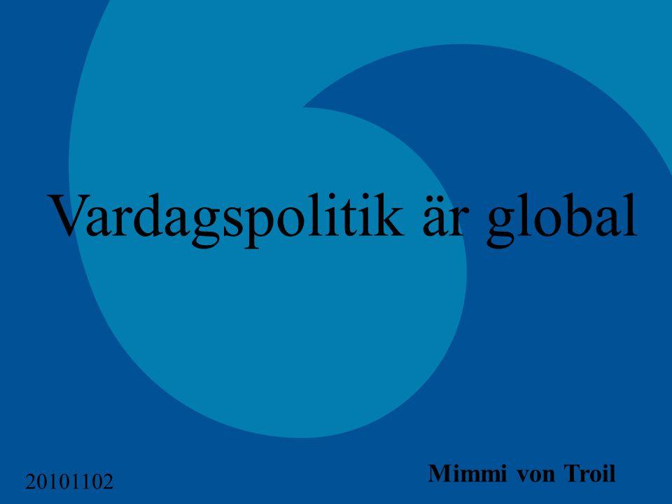 Vardagspolitik är global Mimmi von Troil 20101102