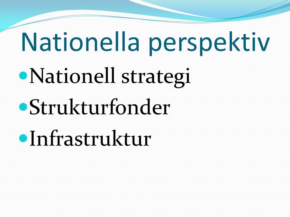 Nationella perspektiv Nationell strategi Strukturfonder Infrastruktur
