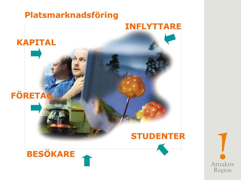 Platsmarknadsföring KAPITAL FÖRETAG BESÖKARE INFLYTTARE STUDENTER