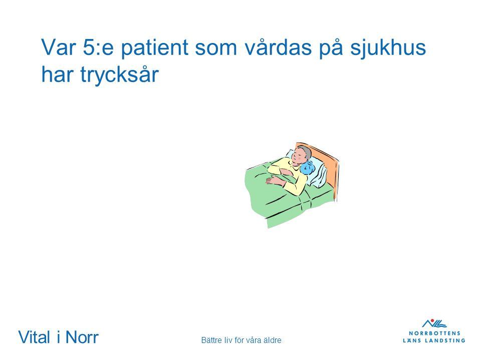 Vital i Norr Bättre liv för våra äldre Var 5:e patient som vårdas på sjukhus har trycksår