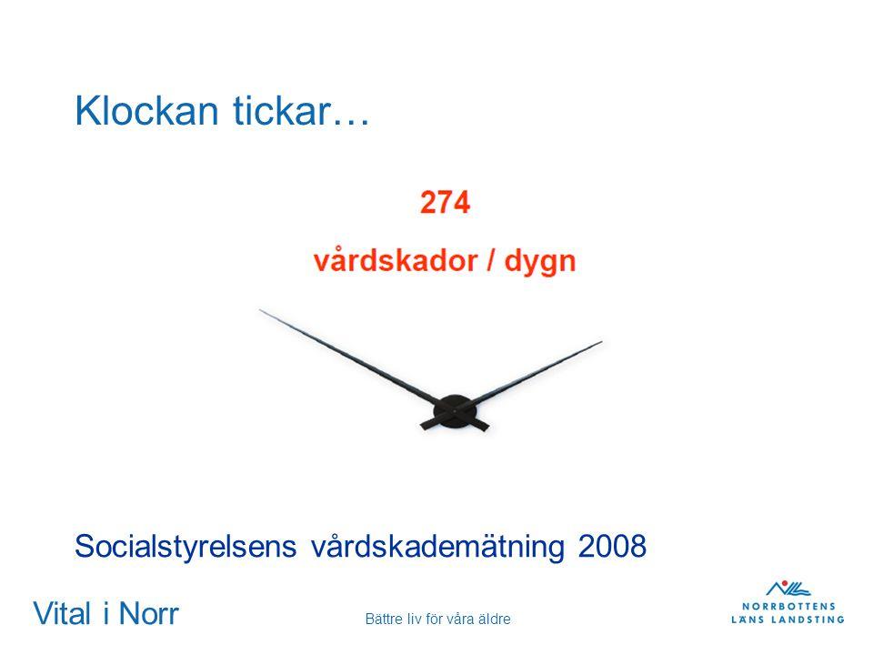 Vital i Norr Bättre liv för våra äldre Klockan tickar… Socialstyrelsens vårdskademätning 2008