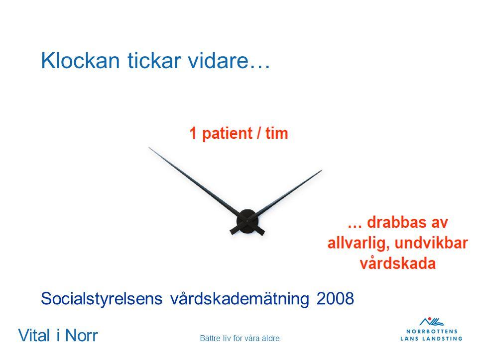 Vital i Norr Bättre liv för våra äldre Klockan tickar vidare… Socialstyrelsens vårdskademätning 2008