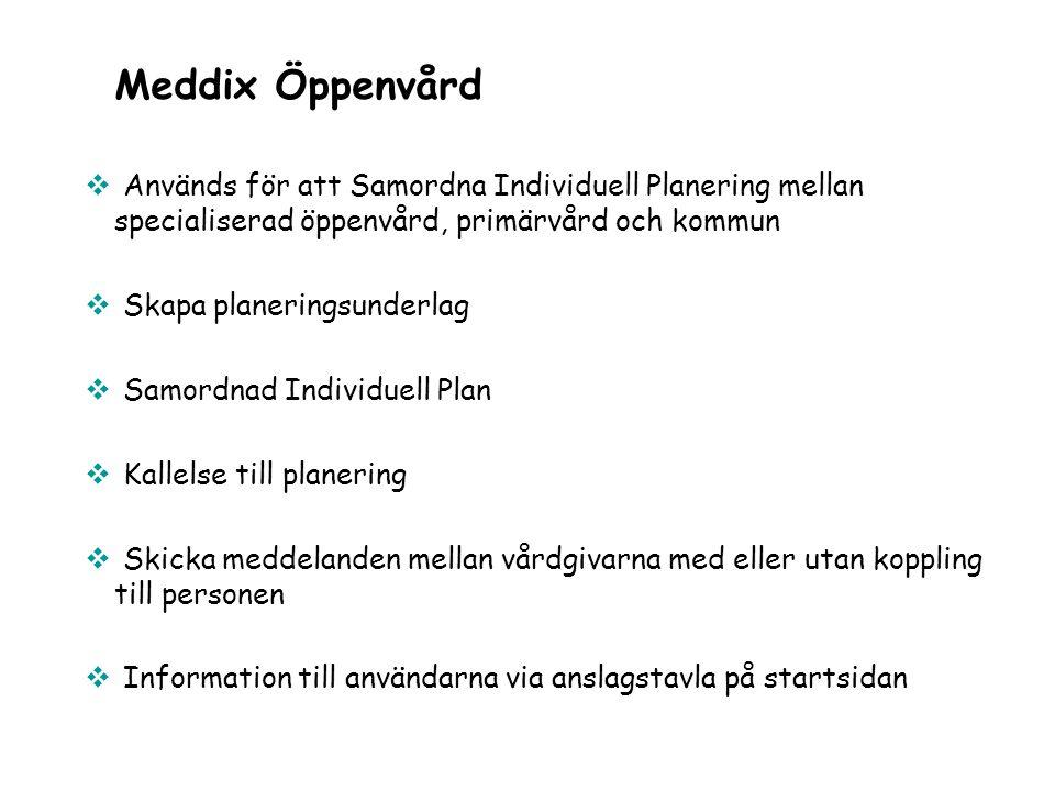  Används för att Samordna Individuell Planering mellan specialiserad öppenvård, primärvård och kommun  Skapa planeringsunderlag  Samordnad Individu