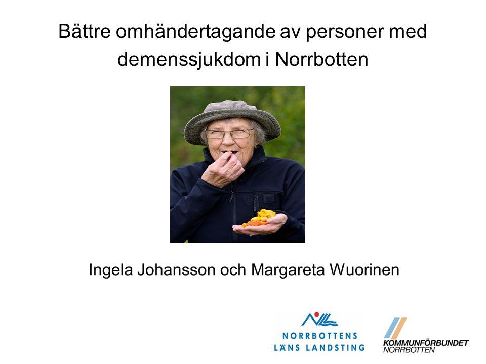 Bättre omhändertagande av personer med demenssjukdom i Norrbotten