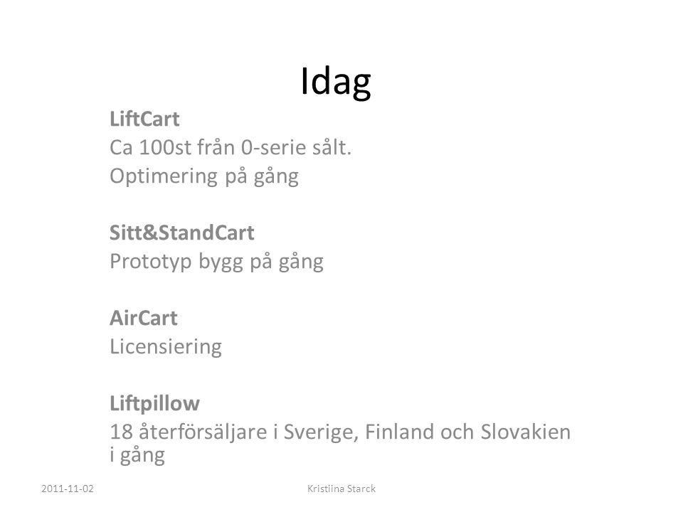 Idag LiftCart Ca 100st från 0-serie sålt.