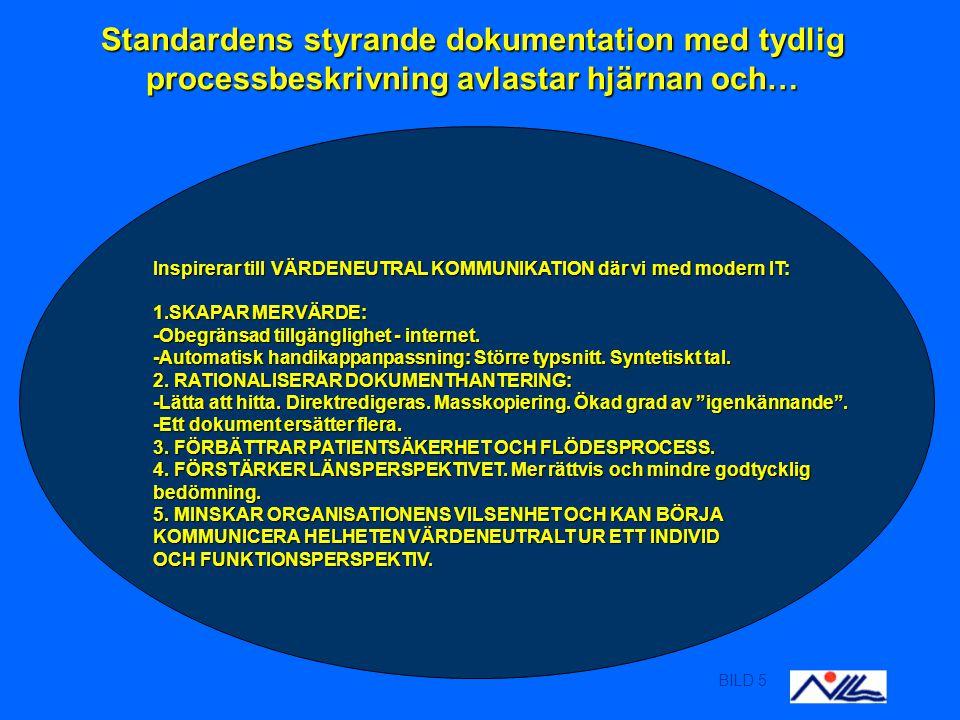 BILD 6 ÖGONSJUKVÅRDENS HEMSIDA via WWW.NLL.SE ÖGONSJUKVÅRDENS HEMSIDA via WWW.NLL.SE Länkar organisationens Processdokumentation strukturerade enl SS EN ISO 9001:2000.