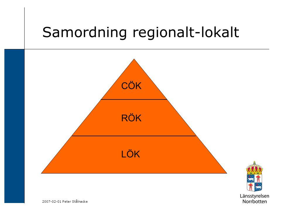 2007-02-01 Peter Stålnacke Samordning regionalt-lokalt CÖK RÖK LÖK