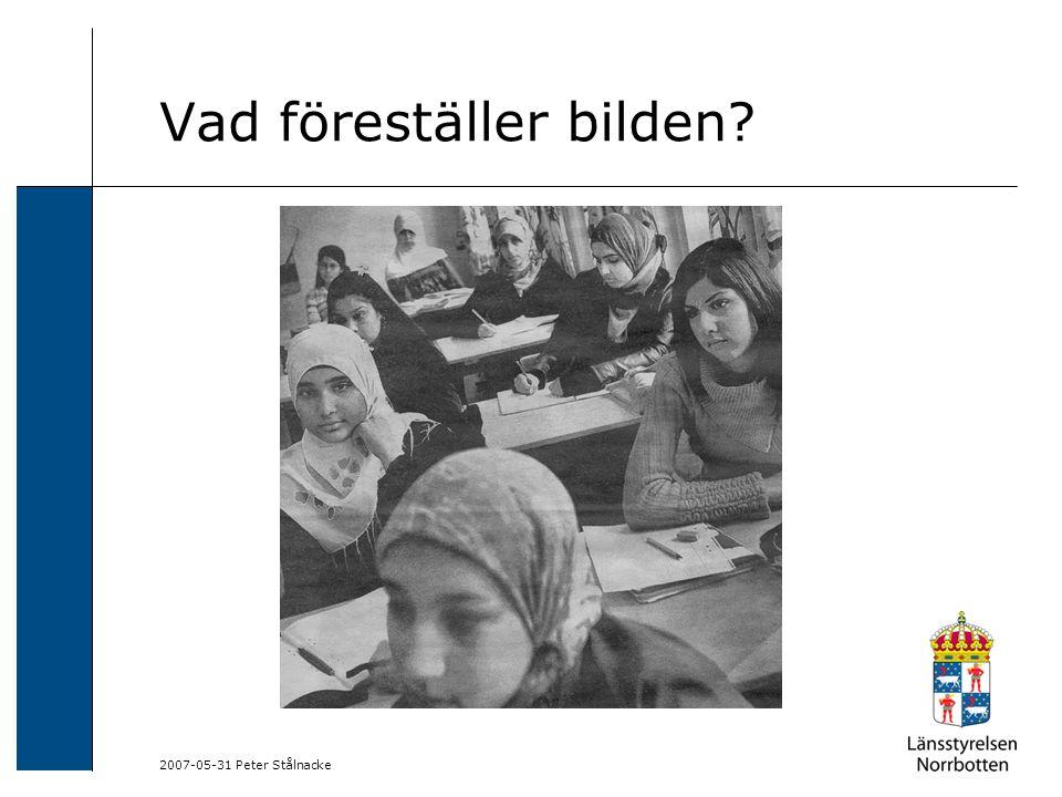 2007-05-31 Peter Stålnacke I korthet: Respektera våra olikheter och uppskatta hur vi är olika.