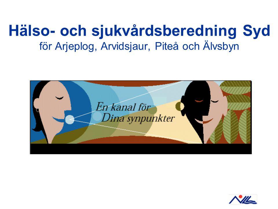 Hälso- och sjukvårdsberedning Syd för Arjeplog, Arvidsjaur, Piteå och Älvsbyn