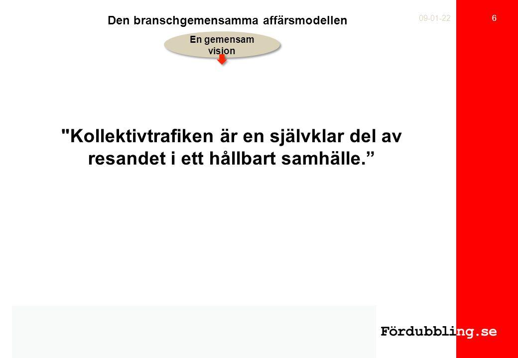 7 09-01-22 Resenär- ernas behov Tillgodo- sedda behov Ett perspektivskifte.