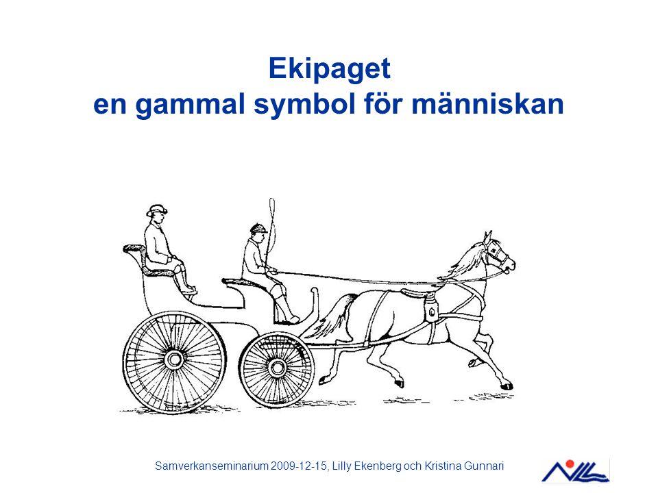 Samverkanseminarium 2009-12-15, Lilly Ekenberg och Kristina Gunnari Ekipaget en gammal symbol för människan