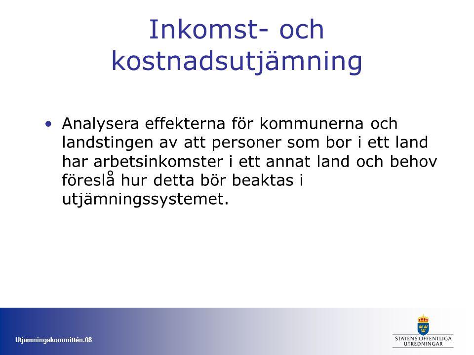Utjämningskommittén.08 Övriga frågor Bör strukturbidraget förändras eller avvecklas.