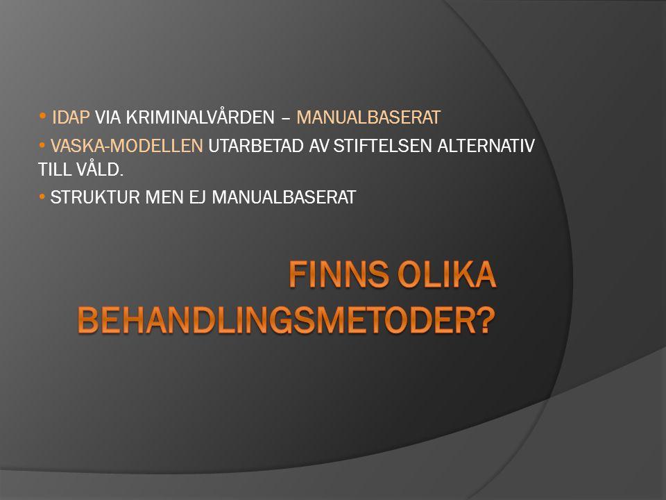 IDAP VIA KRIMINALVÅRDEN – MANUALBASERAT VASKA-MODELLEN UTARBETAD AV STIFTELSEN ALTERNATIV TILL VÅLD.