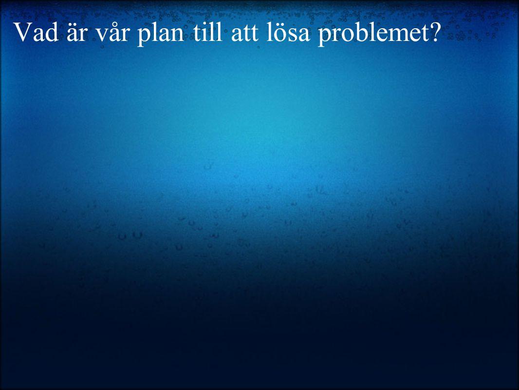 Vad är vår plan till att lösa problemet?