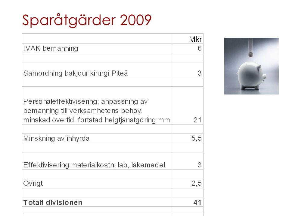 Sparåtgärder 2009