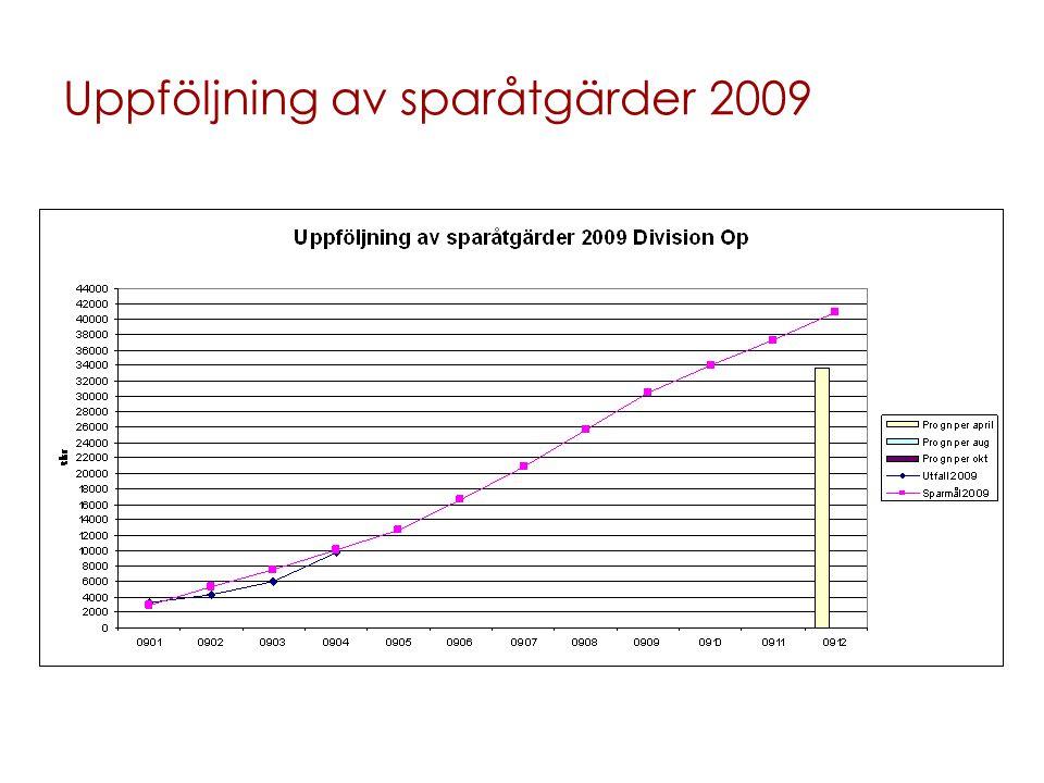 Uppföljning av sparåtgärder 2009