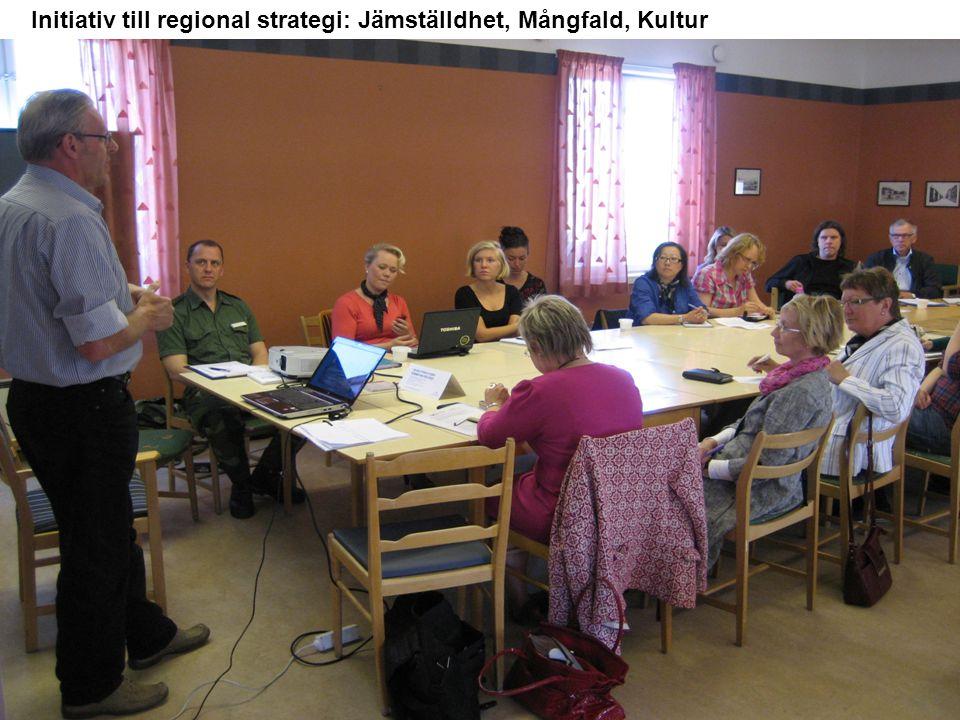 Initiativ till regional strategi: Jämställdhet, Mångfald, Kultur