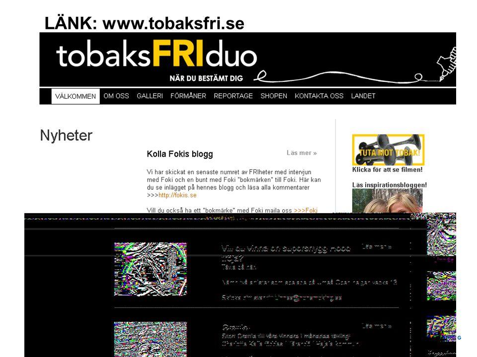 LÄNK: www.tobaksfri.se
