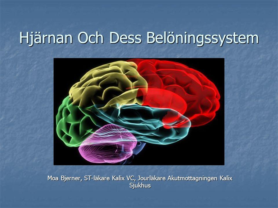 Sammanfattning Hjärnans belöningssystem finns utvecklat via evolutionen och påverkas av alla beroendeframkallande droger.