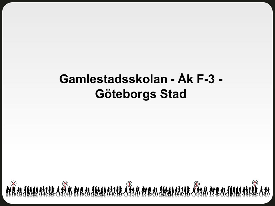 Gamlestadsskolan - Åk F-3 - Göteborgs Stad