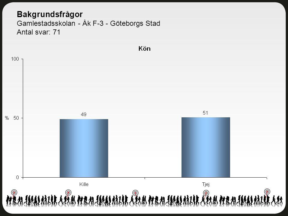 Tabell 2 Gamlestadsskolan - Åk F-3 - Göteborgs Stad