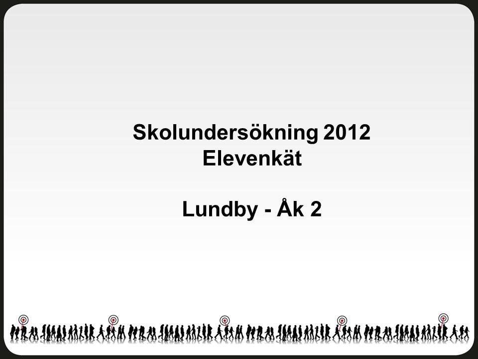 Skolundersökning 2012 Elevenkät Lundby - Åk 2