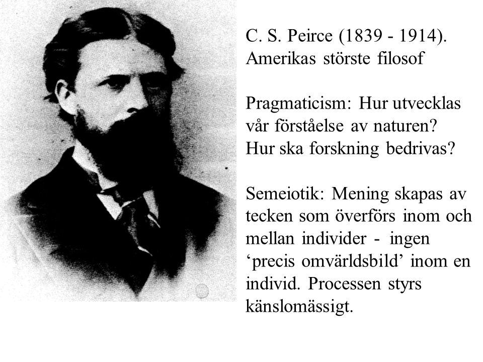 C.S. Peirce (1839 - 1914).