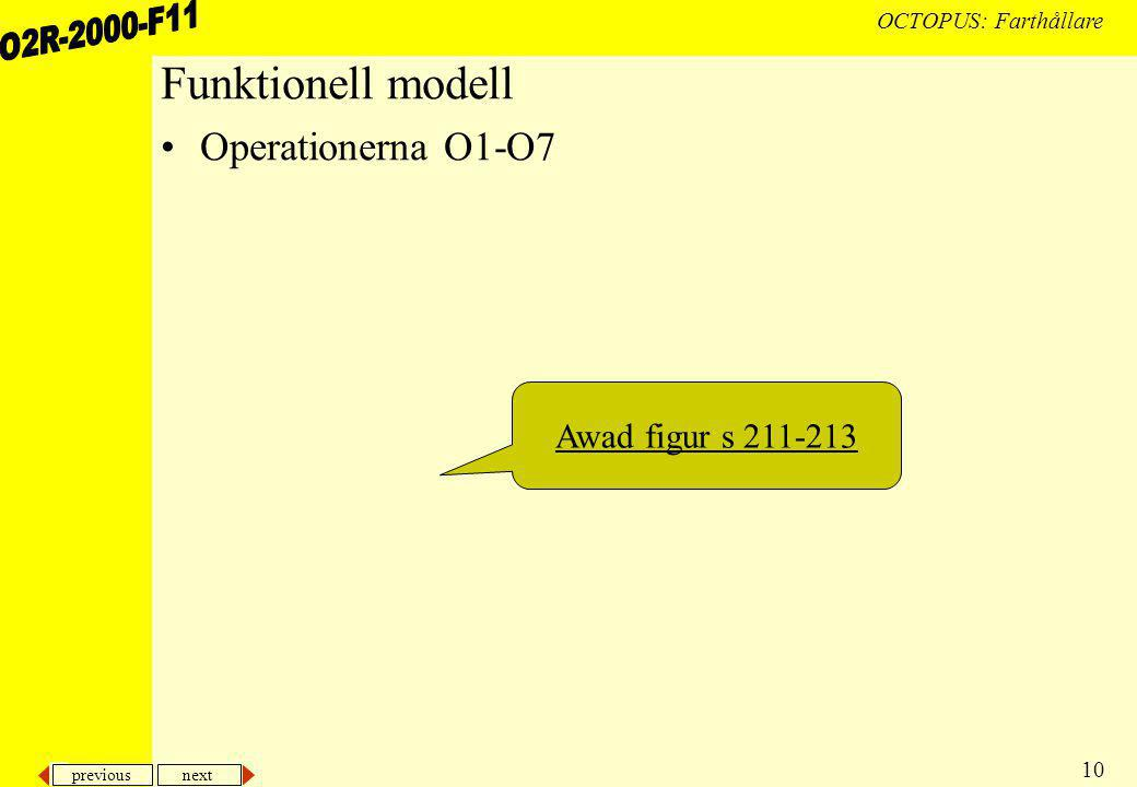 previous next 10 OCTOPUS: Farthållare Funktionell modell Operationerna O1-O7 Awad figur s 211-213