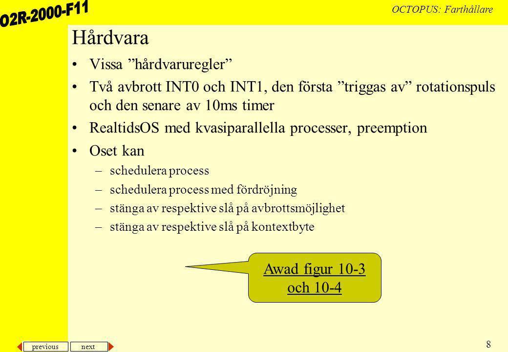 previous next 29 OCTOPUS: Farthållare...