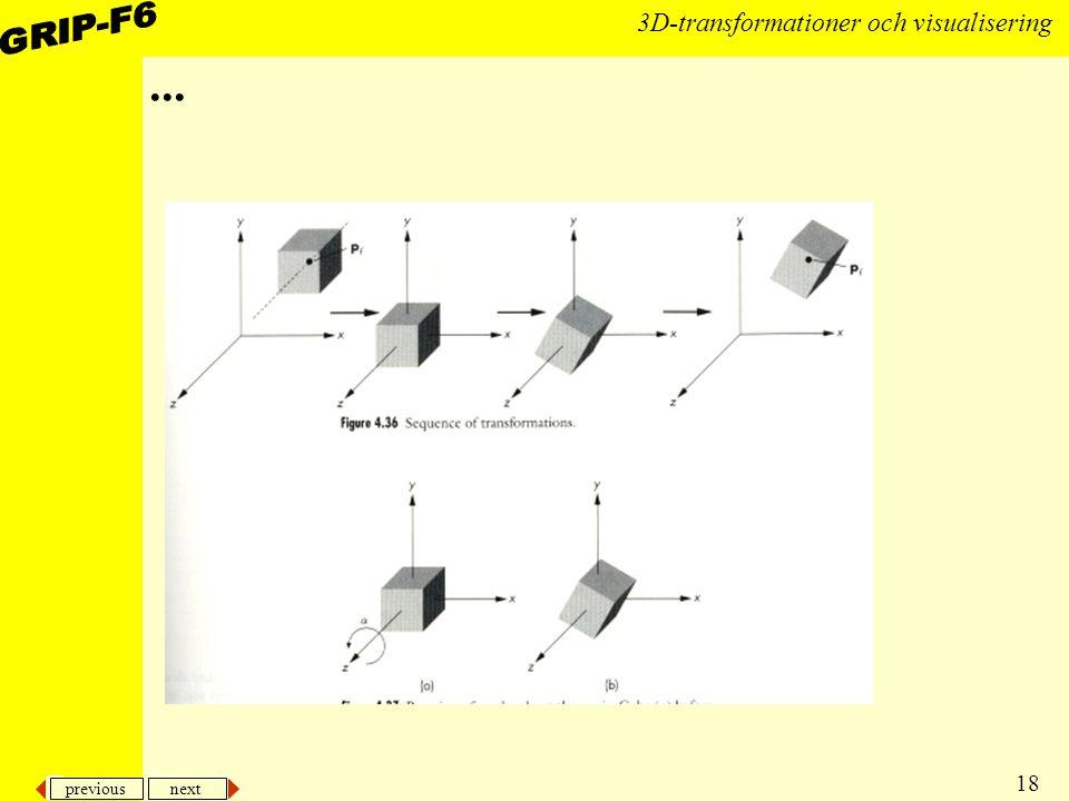 previous next 18 3D-transformationer och visualisering...