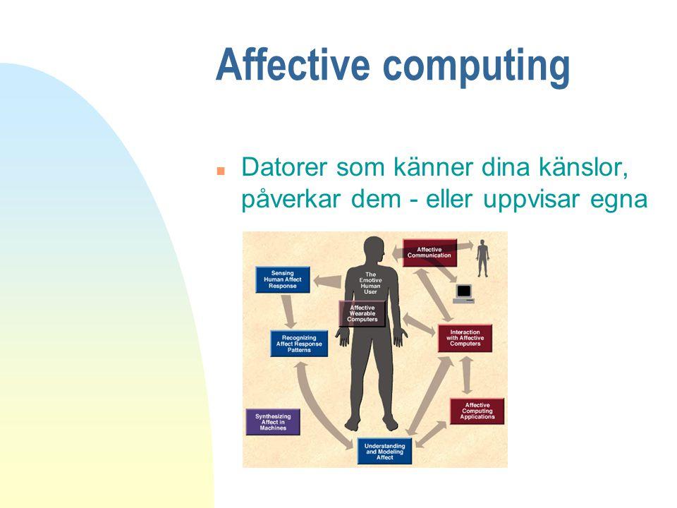 Affective computing n Datorer som känner dina känslor, påverkar dem - eller uppvisar egna