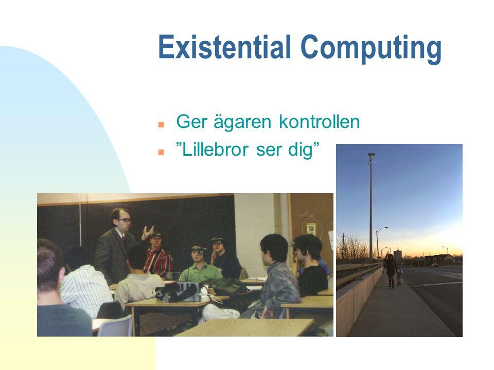 "Existential Computing n Ger ägaren kontrollen n ""Lillebror ser dig"""