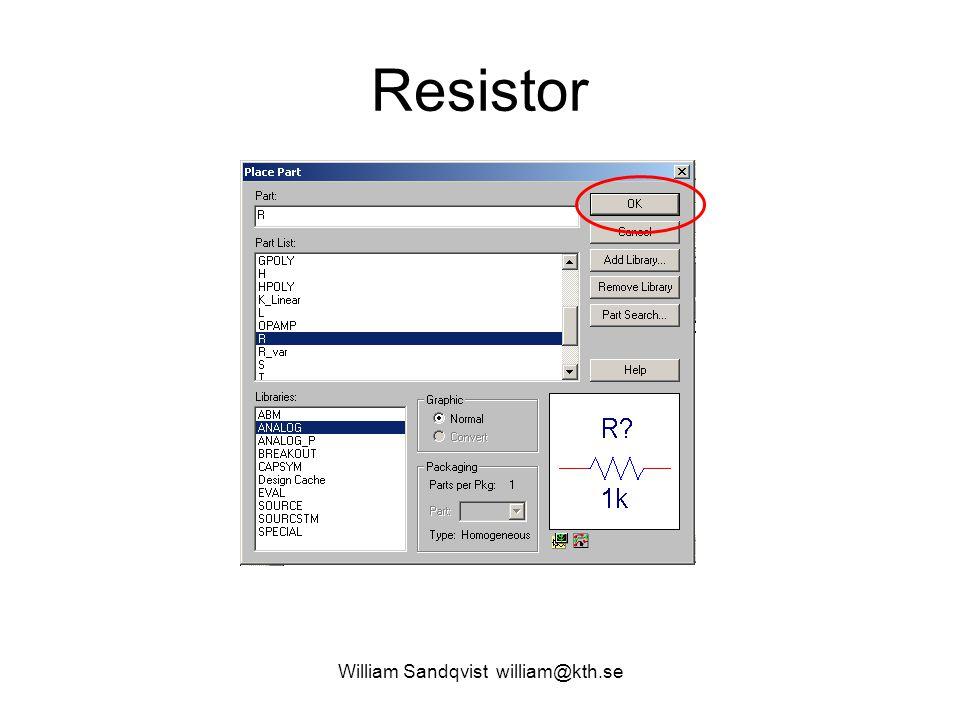 William Sandqvist william@kth.se Resistor