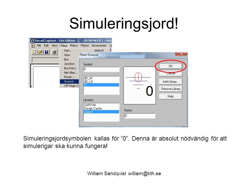 """William Sandqvist william@kth.se Simuleringsjord! Simuleringsjordsymbolen kallas för """"0"""". Denna är absolut nödvändig för att simulerigar ska kunna fun"""