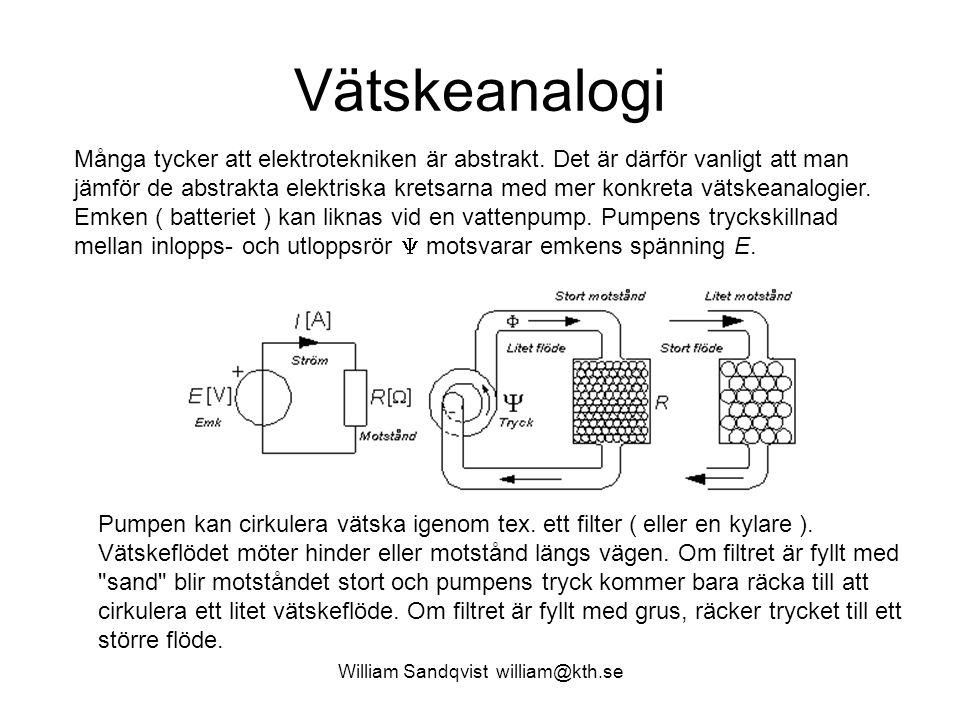 Vätskeanalogi Många tycker att elektrotekniken är abstrakt.