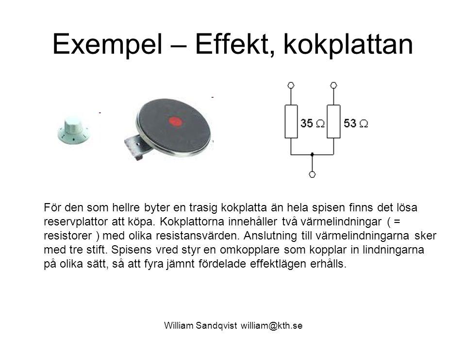 Exempel – Effekt, kokplattan För den som hellre byter en trasig kokplatta än hela spisen finns det lösa reservplattor att köpa.