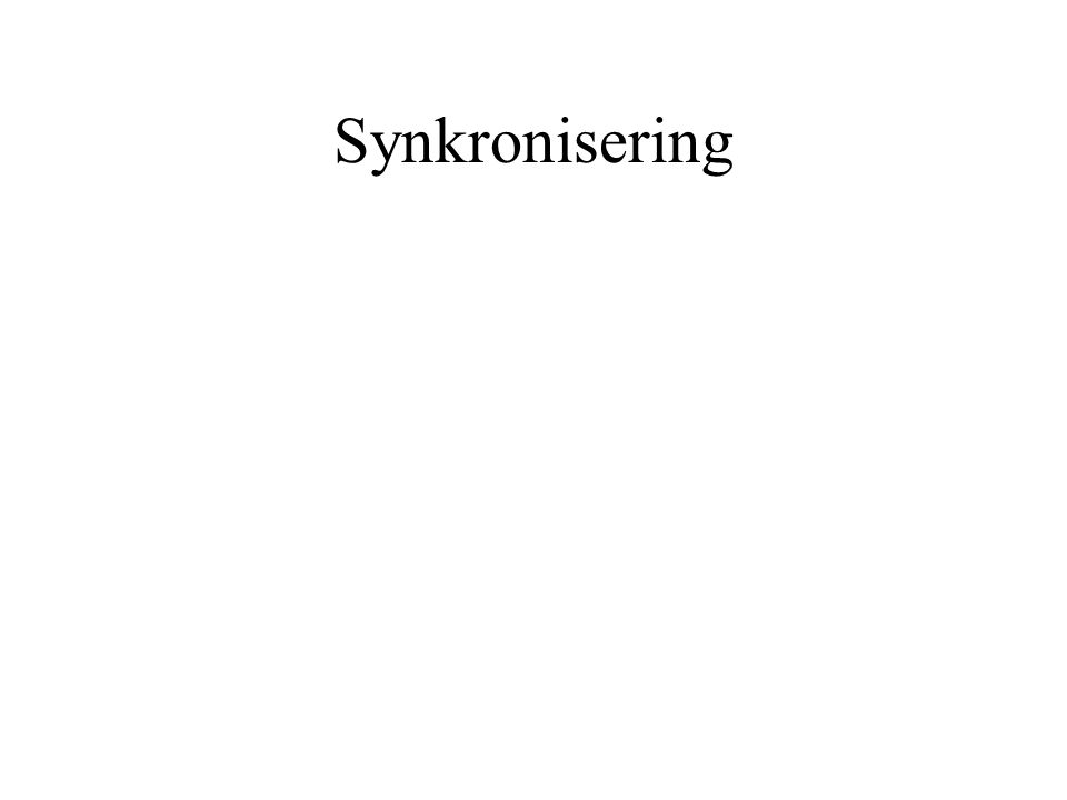 Synkronisering