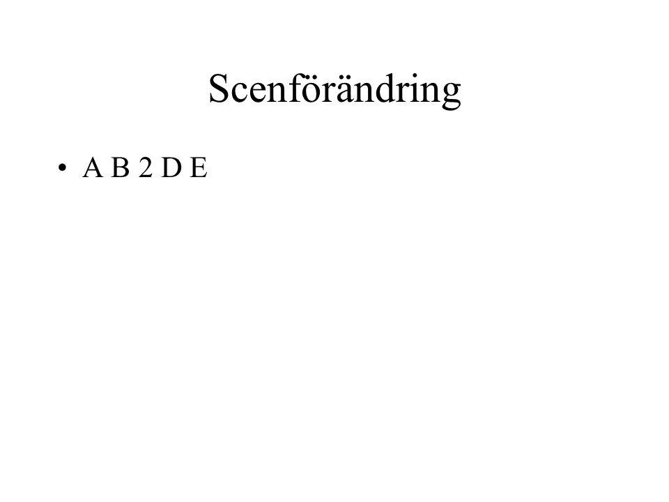 Scenförändring A B 2 D E