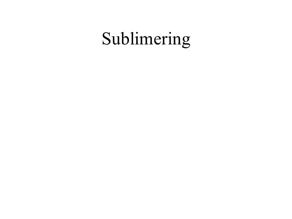 Sublimering