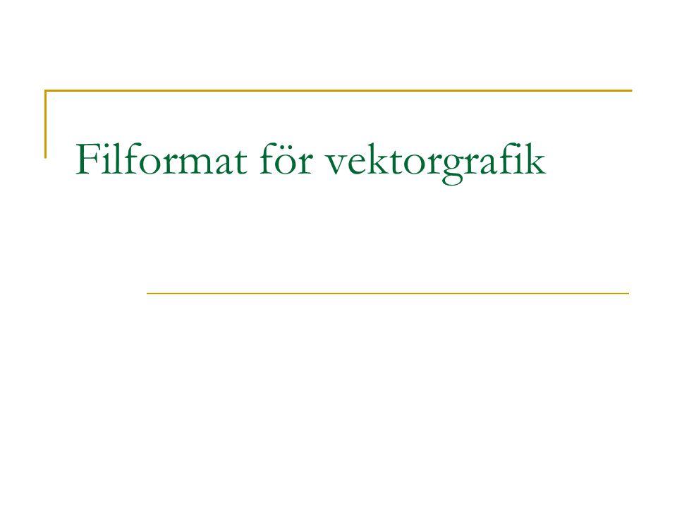 Filformat för vektorgrafik