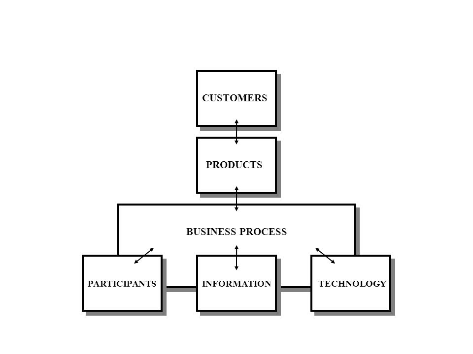 CUSTOMERS PRODUCTS BUSINESS PROCESS PARTICIPANTSINFORMATIONTECHNOLOGY