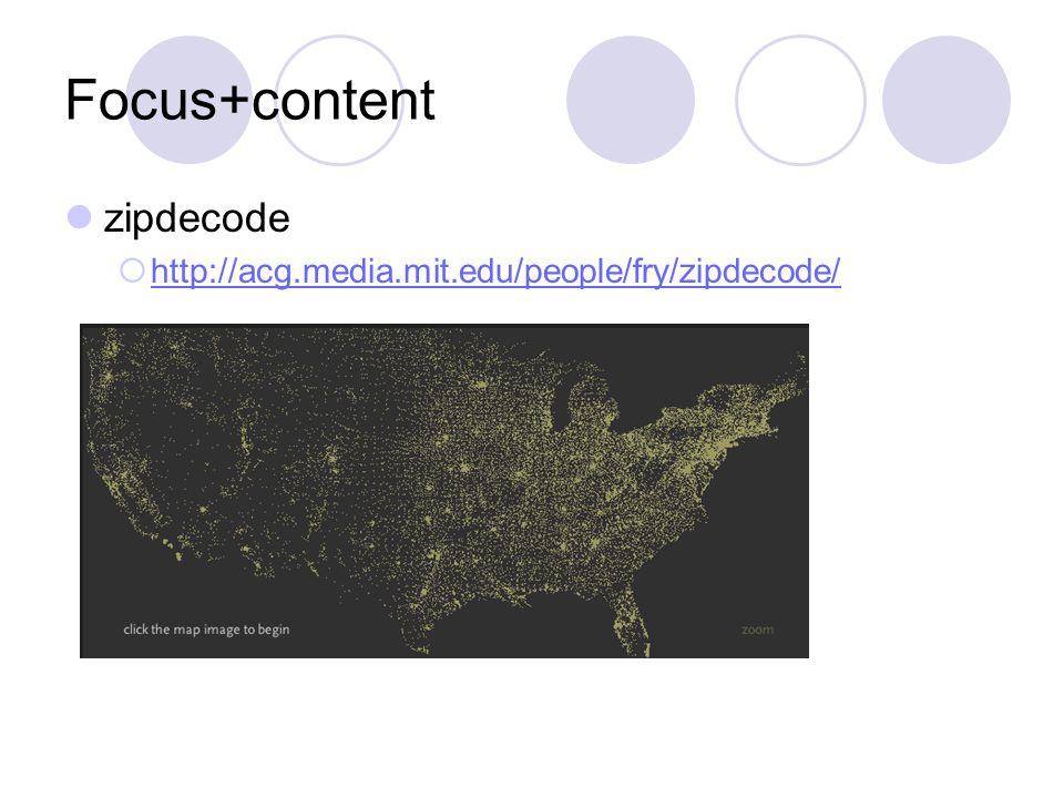 Focus+content zipdecode  http://acg.media.mit.edu/people/fry/zipdecode/ http://acg.media.mit.edu/people/fry/zipdecode/