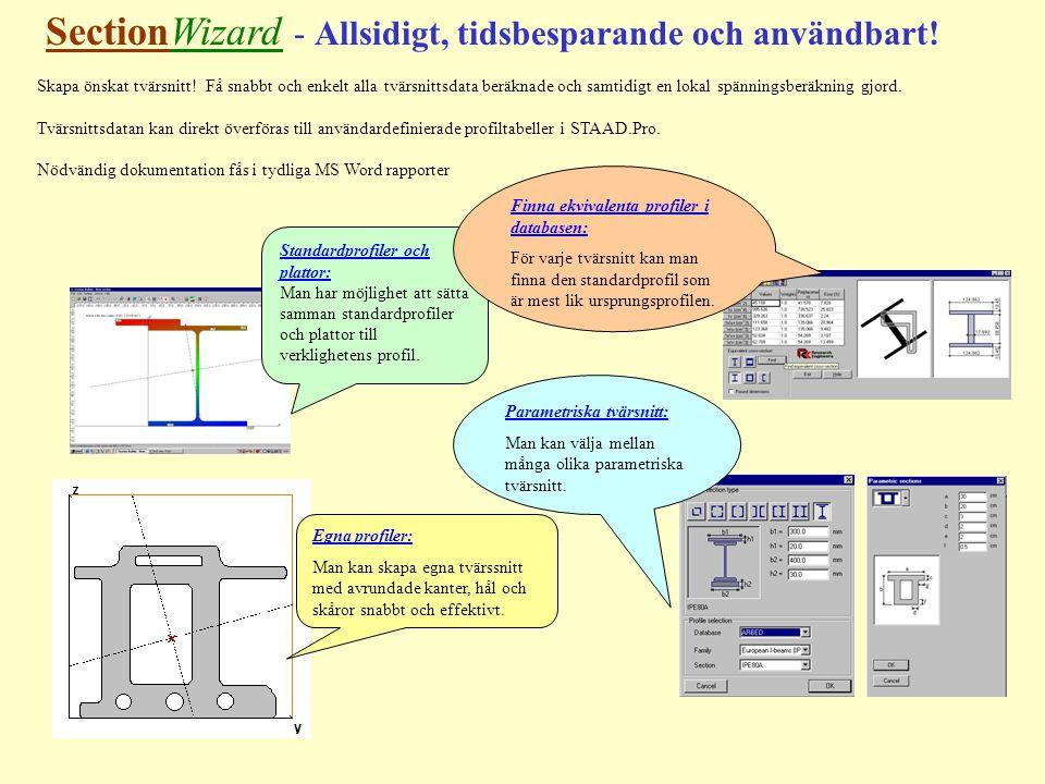 SectionWizard - Allsidigt, tidsbesparande och användbart.